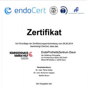 Endoprothetik-Zentrum in Daun wieder ohne Fehl und Tadel