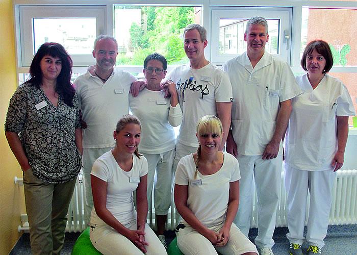 Das Team der Physikalischen Therapie